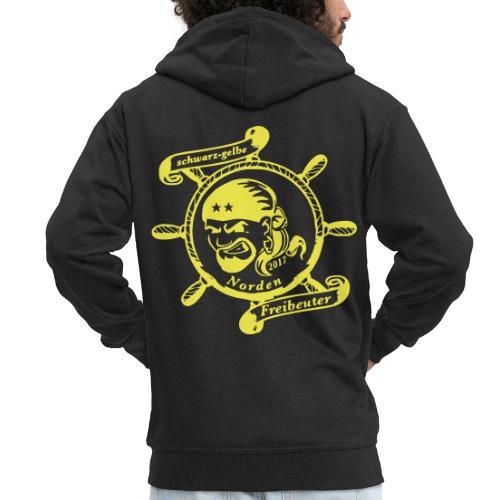Männer Premium Kapuzenjacke mit Logo auf dem Rücken - Männer Premium Kapuzenjacke