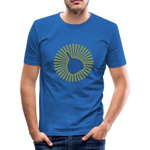 Herren Shirt: Bocksbeutel Beams - Männer Slim Fit T-Shirt