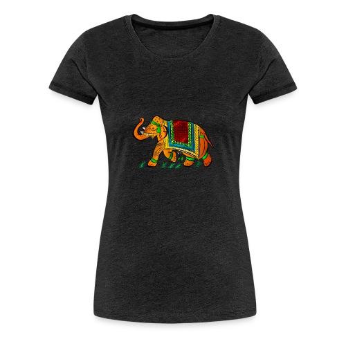 Indian Elephant - Frauen Premium T-Shirt