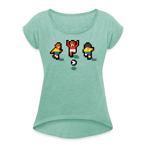 Pixelmeister Brazil - Women's T-shirt with rolled up sleeves
