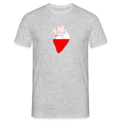 Ein Herz für polen - Männer T-Shirt
