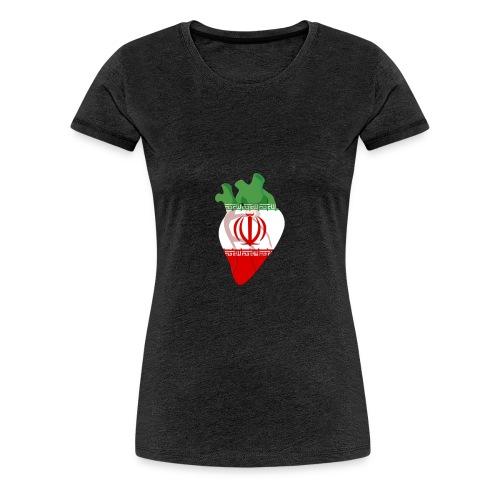 Ein Herz für Iran - Frauen Premium T-Shirt