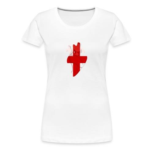 Ein Herz für die Schweiz - Frauen Premium T-Shirt