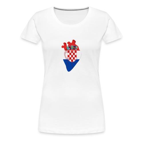 Ein Herz für Kroatien - Frauen Premium T-Shirt