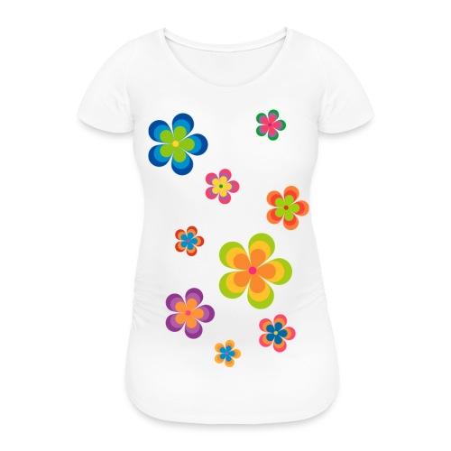 limited edition 03 flowerpower - Frauen Schwangerschafts-T-Shirt