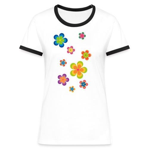 limited edition 03 flowerpower - Frauen Kontrast-T-Shirt