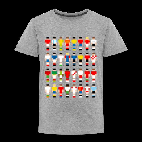 Pixelart Football-Teams - Kids' Premium T-Shirt