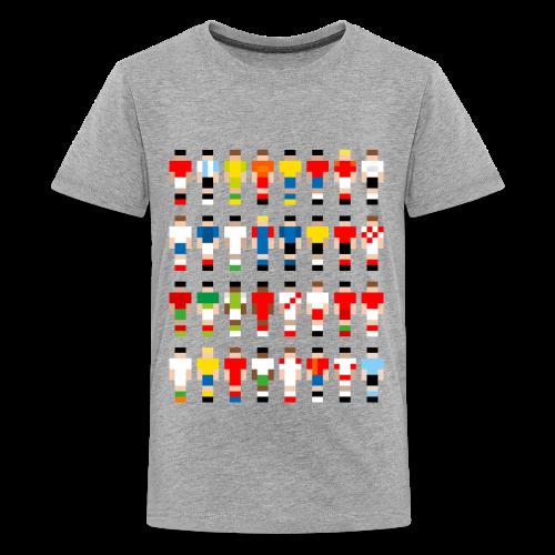 Pixelart Football-Teams - Teenage Premium T-Shirt
