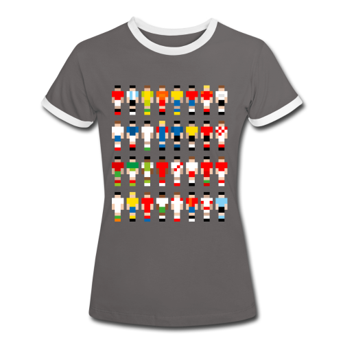 Pixelart Football-Teams - Women's Ringer T-Shirt