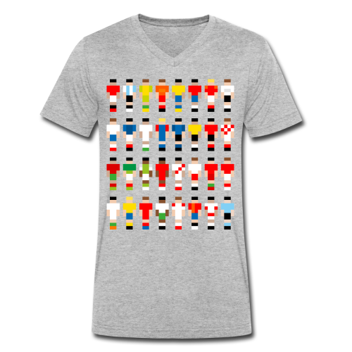 Pixelart Football-Teams - Men's Organic V-Neck T-Shirt by Stanley & Stella