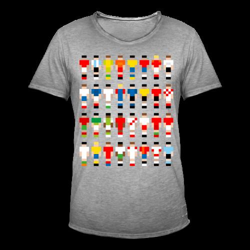 Pixelart Football-Teams - Men's Vintage T-Shirt