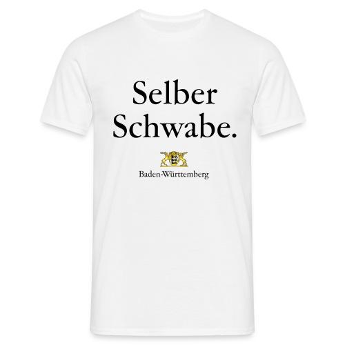 Selber Schwabe. - Männer T-Shirt