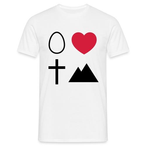 Ei Love Kreuz Berg - Männer T-Shirt