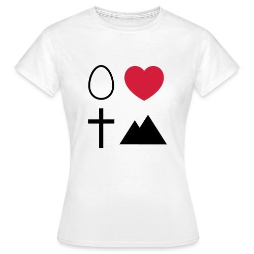Ei Love Kreuz Berg - Frauen T-Shirt