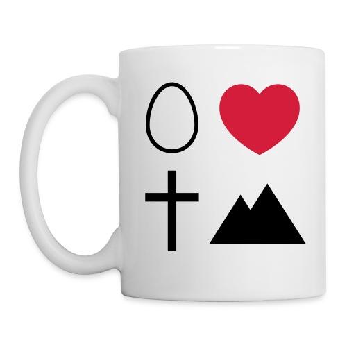 Ei Love Kreuz Berg - Tasse