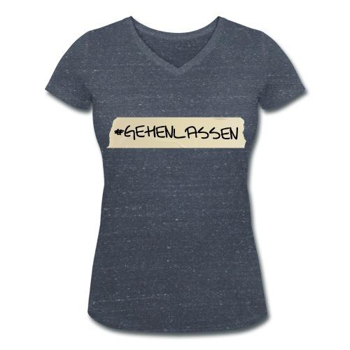 Bio-T-Shirt #abgehen - Frauen Bio-T-Shirt mit V-Ausschnitt von Stanley & Stella