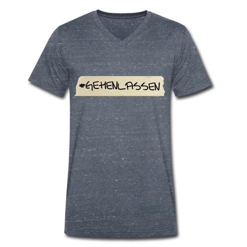 Bio-T-Shirt #abgehen - Männer Bio-T-Shirt mit V-Ausschnitt von Stanley & Stella