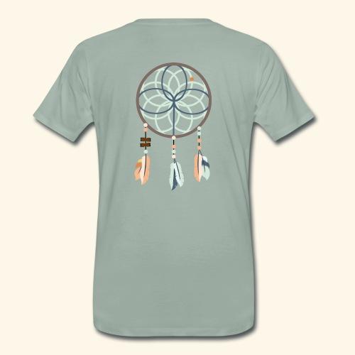 Standard t-shirt, drömfångare på ryggen - Premium-T-shirt herr