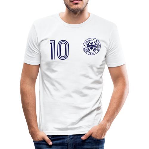 BLEUDIAN 10 (Away) Rund neunzig Minuten - Männer Slim Fit T-Shirt
