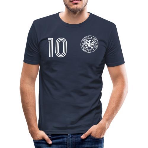 BLEUDIAN 10 (Home) - Männer Slim Fit T-Shirt
