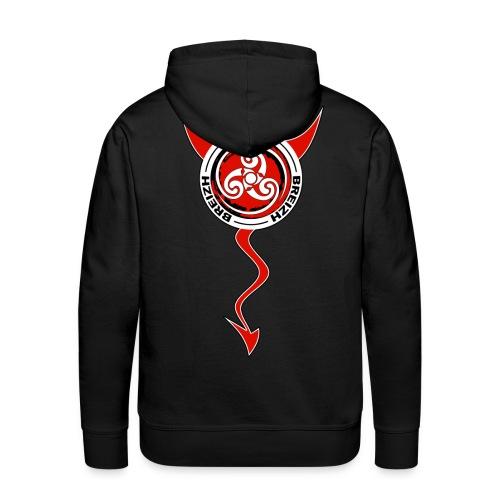 Breizh devil - Sweat-shirt à capuche Premium pour hommes