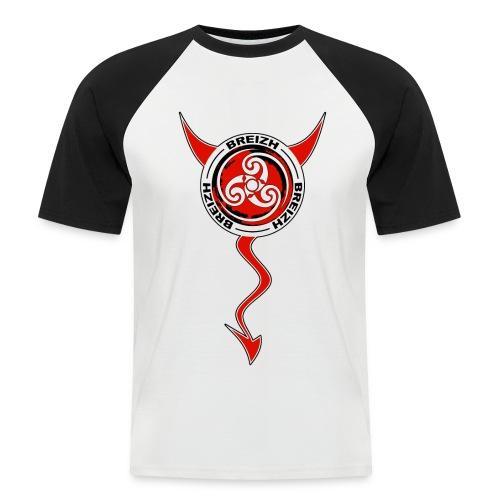 Breizh devil - T-shirt baseball manches courtes Homme