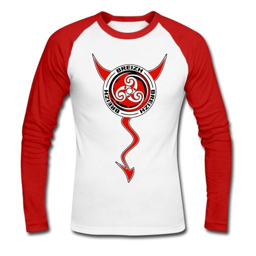 Breizh devil - T-shirt baseball manches longues Homme