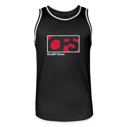 CFS - embleem Basketball shirt (let op, valt ruim) Heren - Mannen basketbal shirt