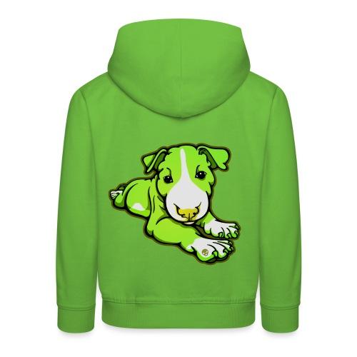 Lime Chilled Bull Terrier - Kids' Premium Hoodie