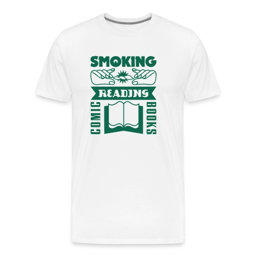 Smoking & Reading - Männer Premium T-Shirt