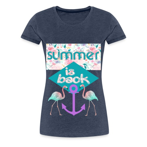 summer is back - Frauen Premium T-Shirt