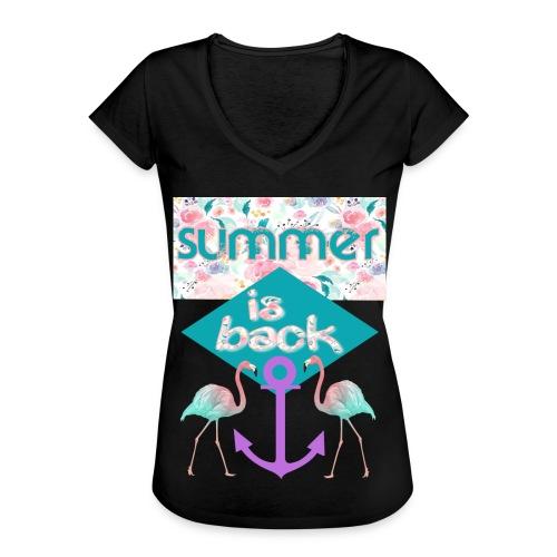 summer is back - Frauen Vintage T-Shirt