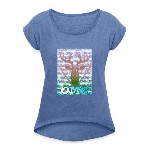 OMG - Frauen T-Shirt mit gerollten Ärmeln