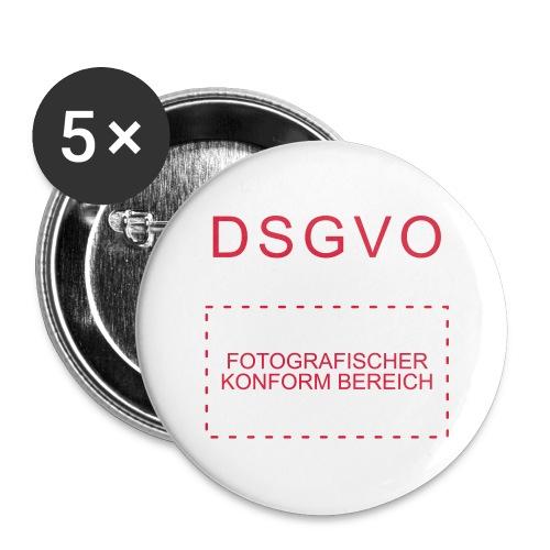 Buttons groß 56 mm - Fotografischer Konformbereich