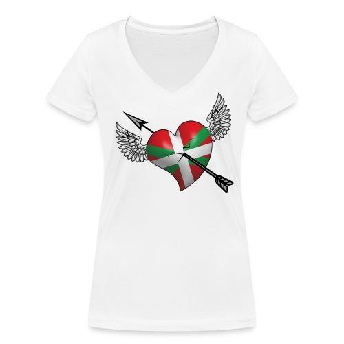 Cœur Basque - T-shirt bio col V Stanley & Stella Femme
