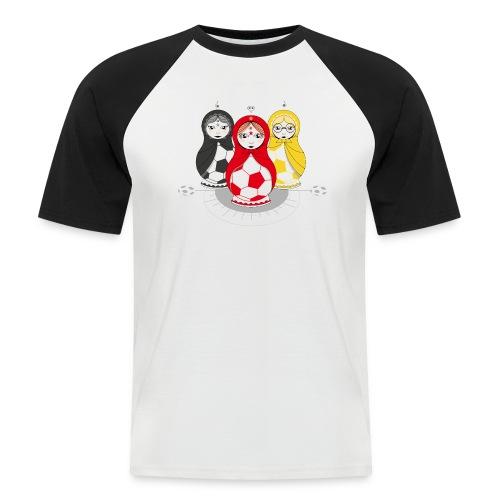 Fußball Matroschka Mädels - Männer Baseball-T-Shirt