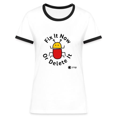Fix It Now, contrast t-shirt - Kontrast-T-shirt dam