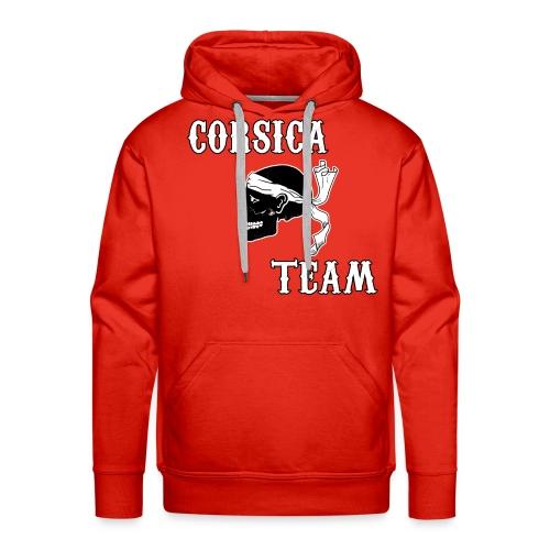 Corsica Team - Sweat-shirt à capuche Premium pour hommes
