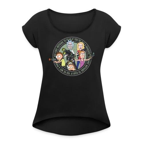 Total Rickall - Frauen T-Shirt mit gerollten Ärmeln