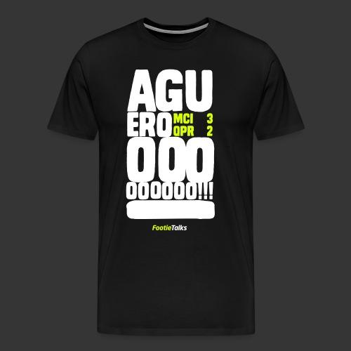FootieTalks® - Agueroooooooo! - Men's Premium T-Shirt