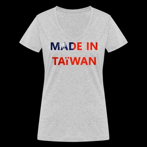 Made in Taïwan  - T-shirt bio col V Stanley & Stella Femme