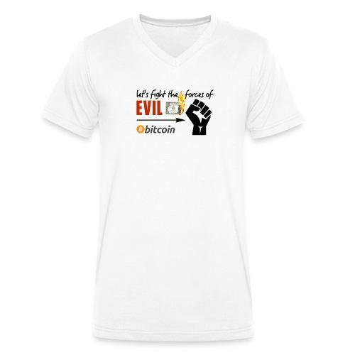 Let's fight the forces of evil V-neck weiss - Männer Bio-T-Shirt mit V-Ausschnitt von Stanley & Stella