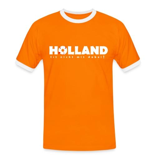 Holland ist nicht mit dabei! - Männer Kontrast-T-Shirt