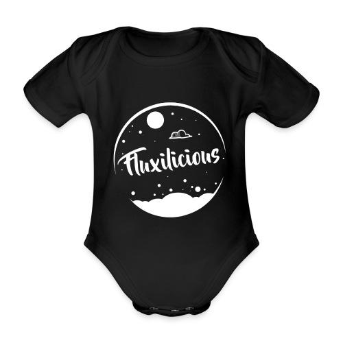 Baby Romper Fluxilicious ZWART - Baby bio-rompertje met korte mouwen