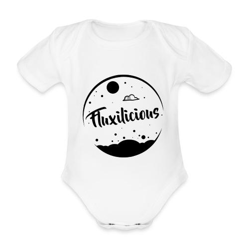 Baby Romper Fluxilicious WIT - Baby bio-rompertje met korte mouwen