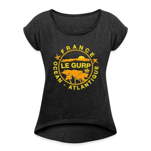 Rollärmel 2018er - Frauen T-Shirt mit gerollten Ärmeln