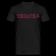 Tee shirts ~ Tee shirt Homme ~ TEO&TEA letter pink shirt black
