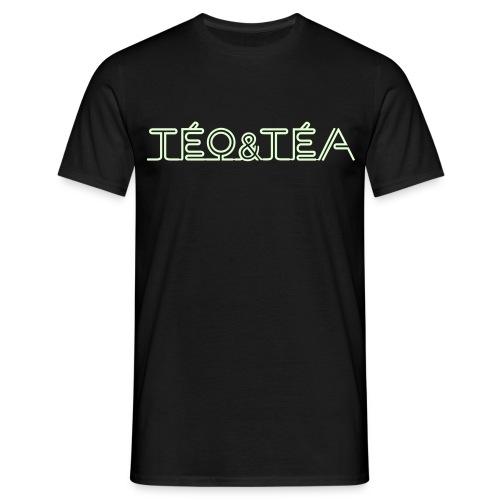 TEO&TEA letter white shirt black - T-shirt Homme