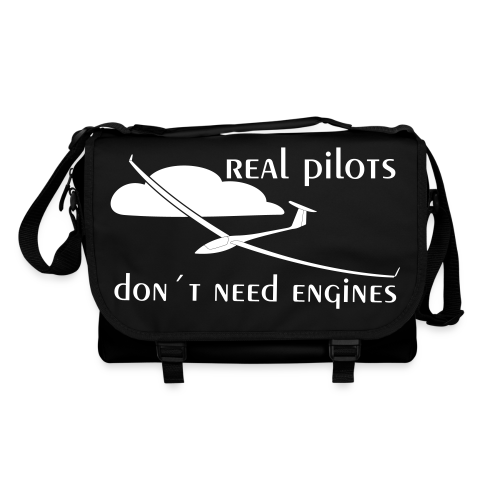 Real pilots don´t need engines - Umhängetasche