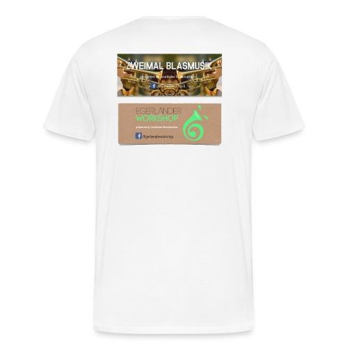Zweimal Workshop - Mannen Premium T-shirt